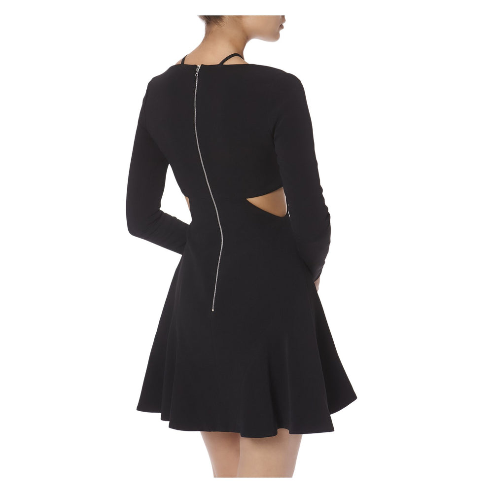 TRIANGLE CHEST AND WAIST CUTOUTS DRESS  -BACK VIEW- THE BOX BOUTIQUE
