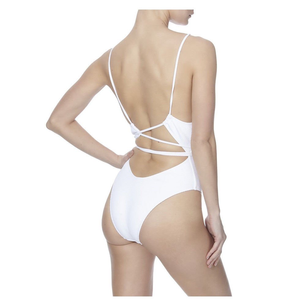 THE DAIQUIRI SUIT IN WHITE  -BACK VIEW- THE BOX BOUTIQUE