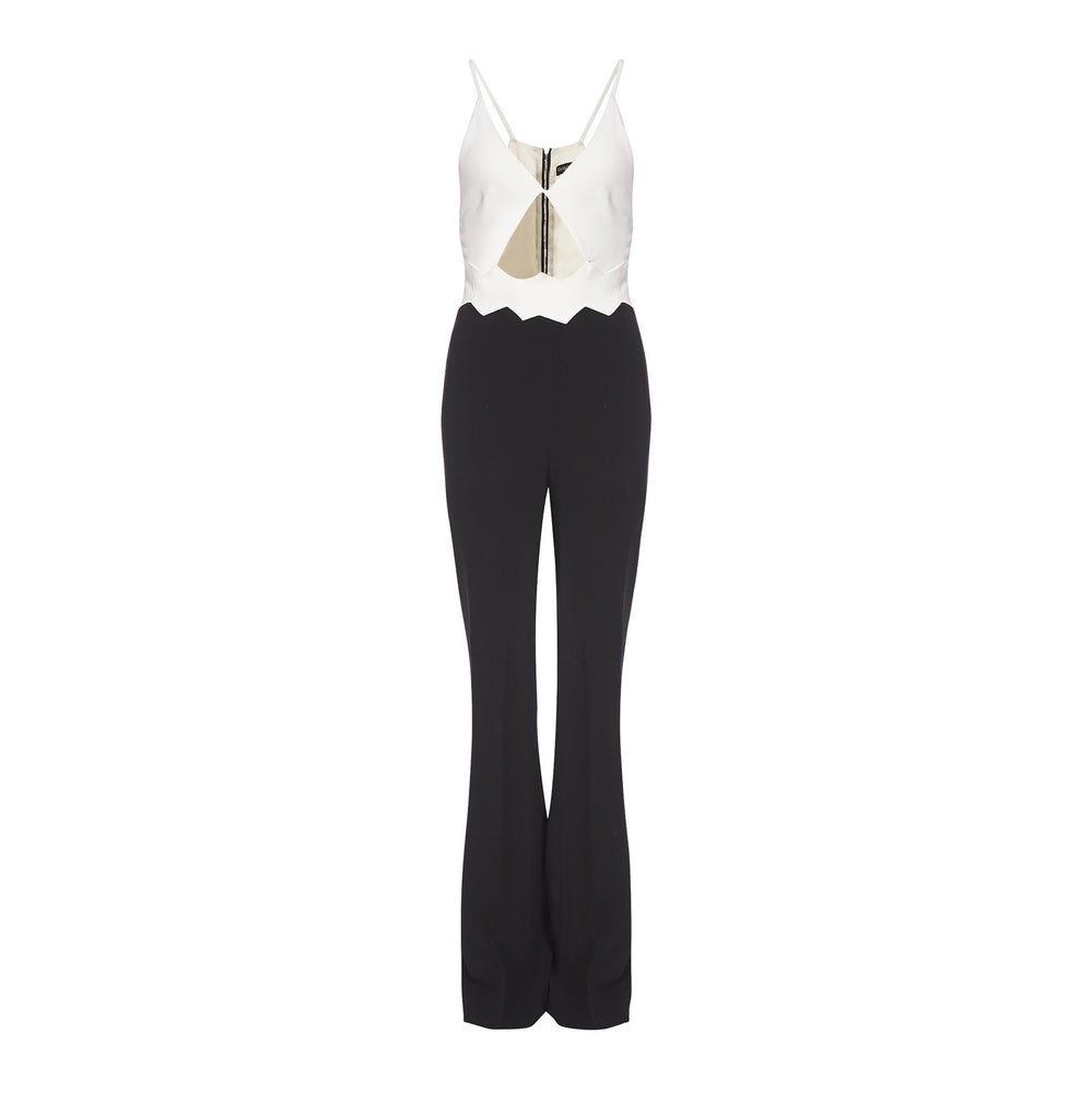 ZIG ZAG WAIST DETAIL JUMPSUIT - THE BOX BOUTIQUE