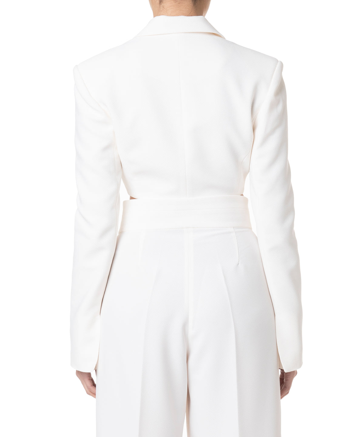 Marianna Senchina Cropped Jacket Women Milky Double Breasted