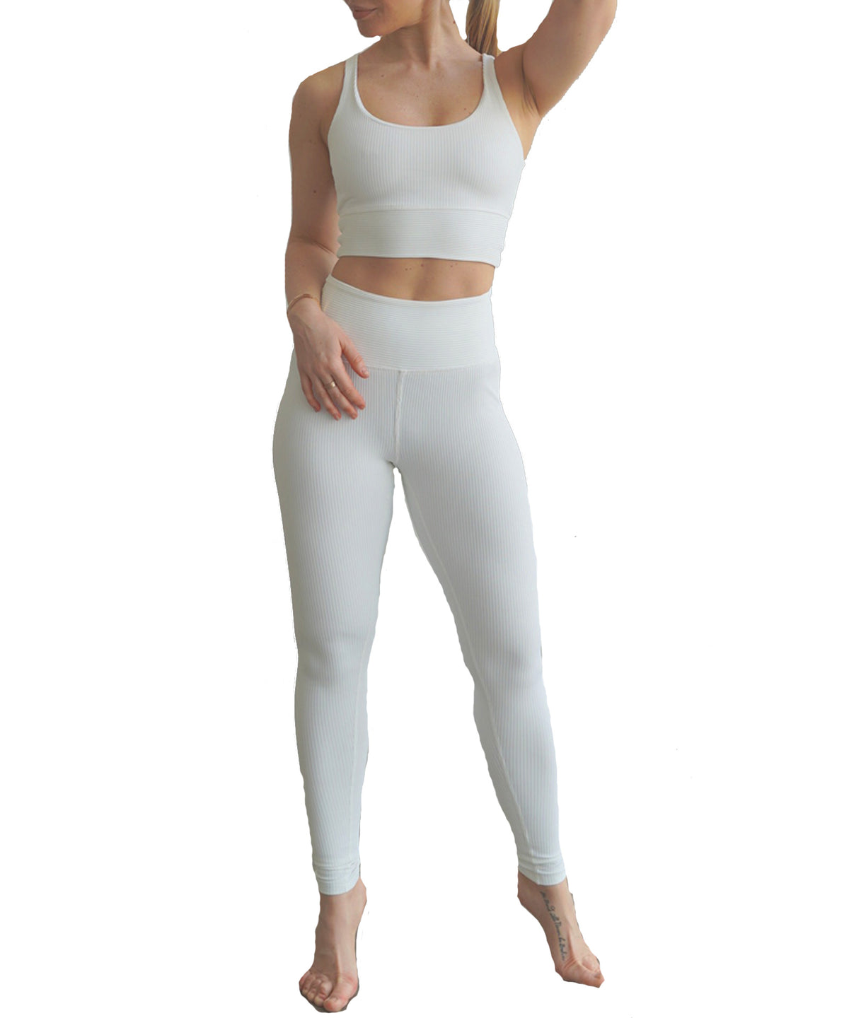 Year of Ours Ribbed High High Leggings White
