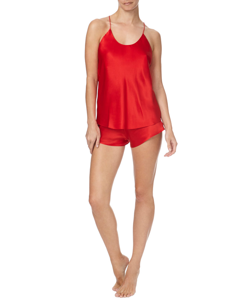 Olivia Von Halle Bella Saffron Women Red Sleepwear