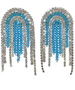TASSEL EARRINGS IN TURQUOISE