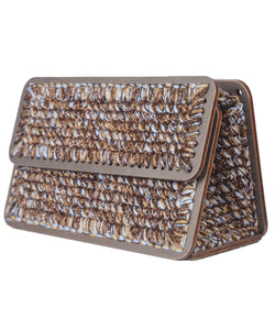 Michel St. Tropez Purse in Beige and Brown