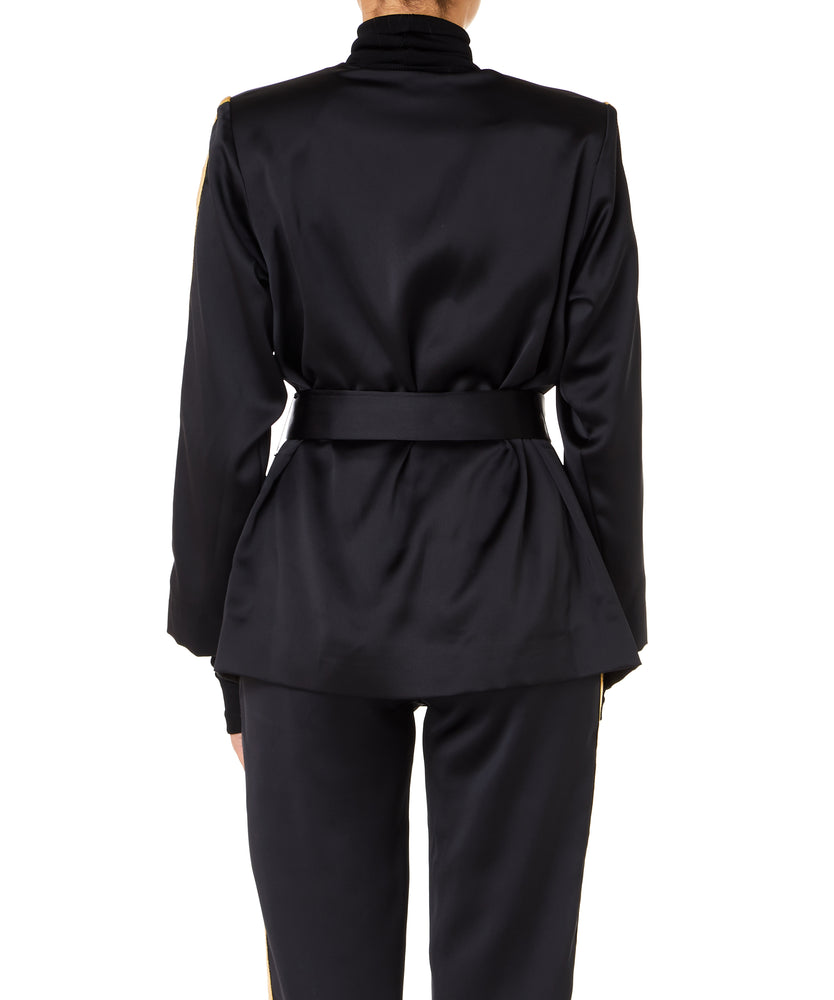 Arwa Al Banawi Vanilla Women Black And Gold Blazer