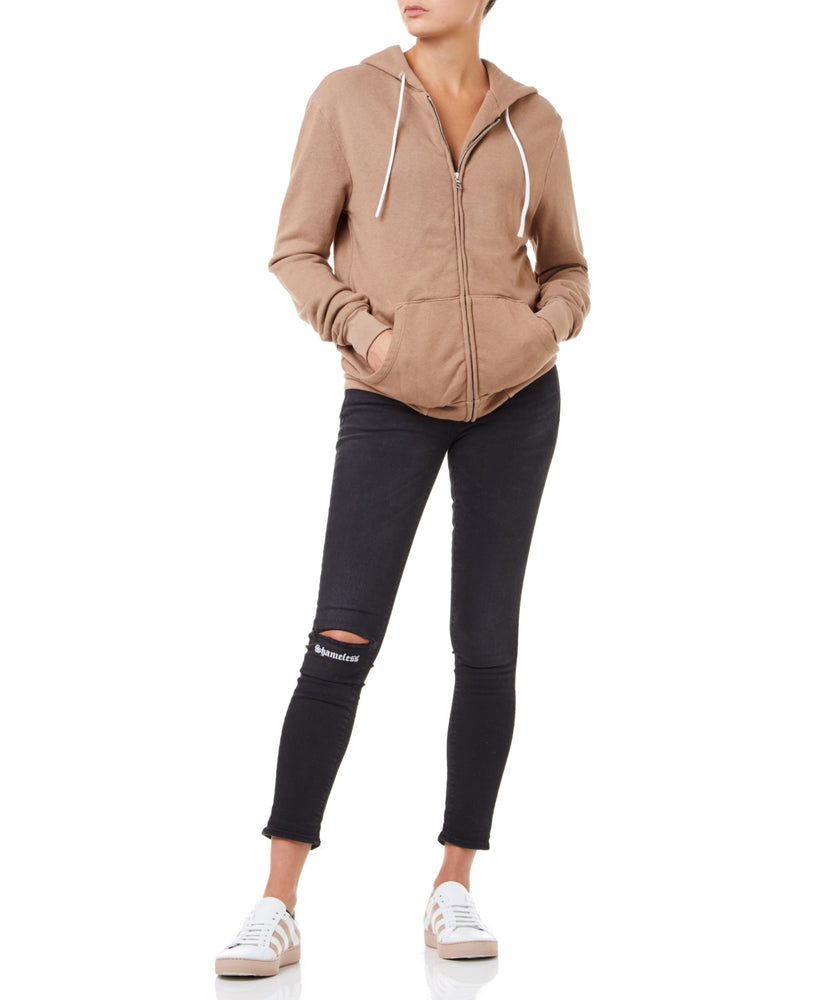 Cotton Citizen Jackson Zip Women Dark-Tan Hoodie