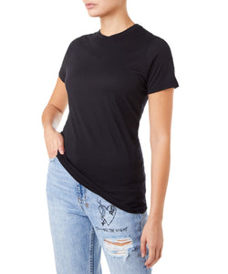 Cotton Citizen Classic Crew Tee Women Black T-shirt