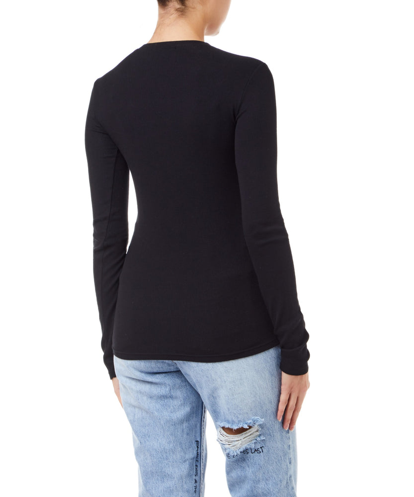 Cotton Citizen Venice Long Sleeve Women Black Top