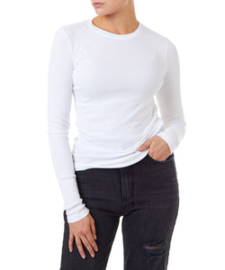 Cotton Citizen Venice Long Sleeve Women White Top