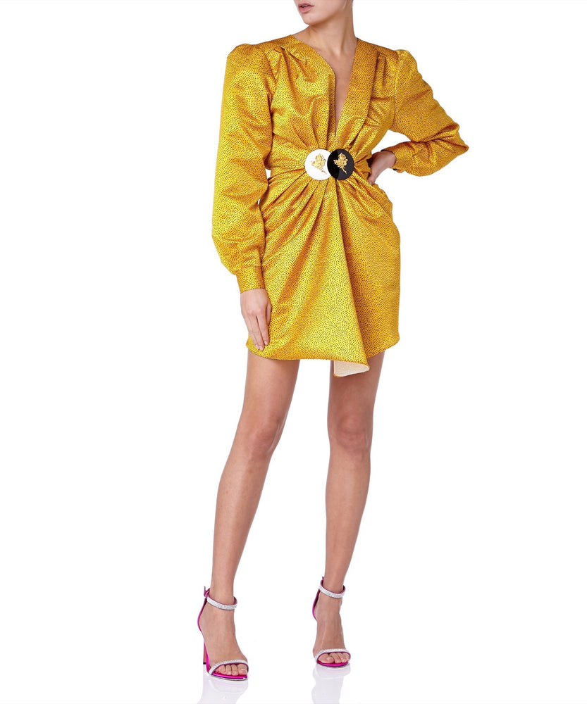Daniele Carlotta Power Women Yellow Dress