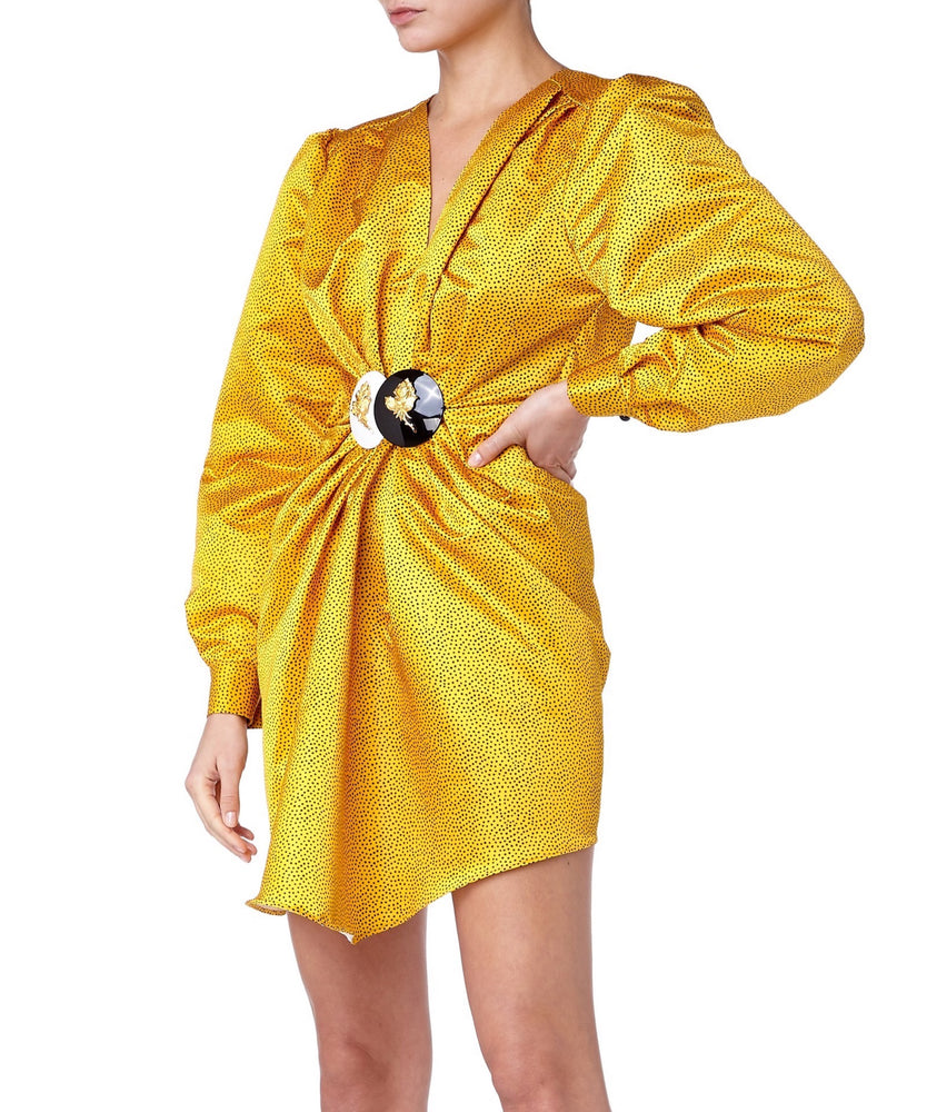 Danielle Carlotta Power Women Yellow Dress