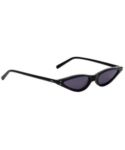 George Keburia Micro Cat-Eye Women Black Sunglasses