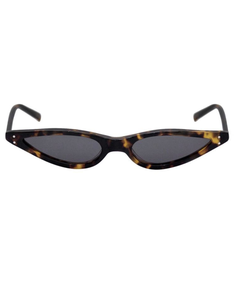 George Keburia Micro Cat-Eye Women Brown Sunglasses