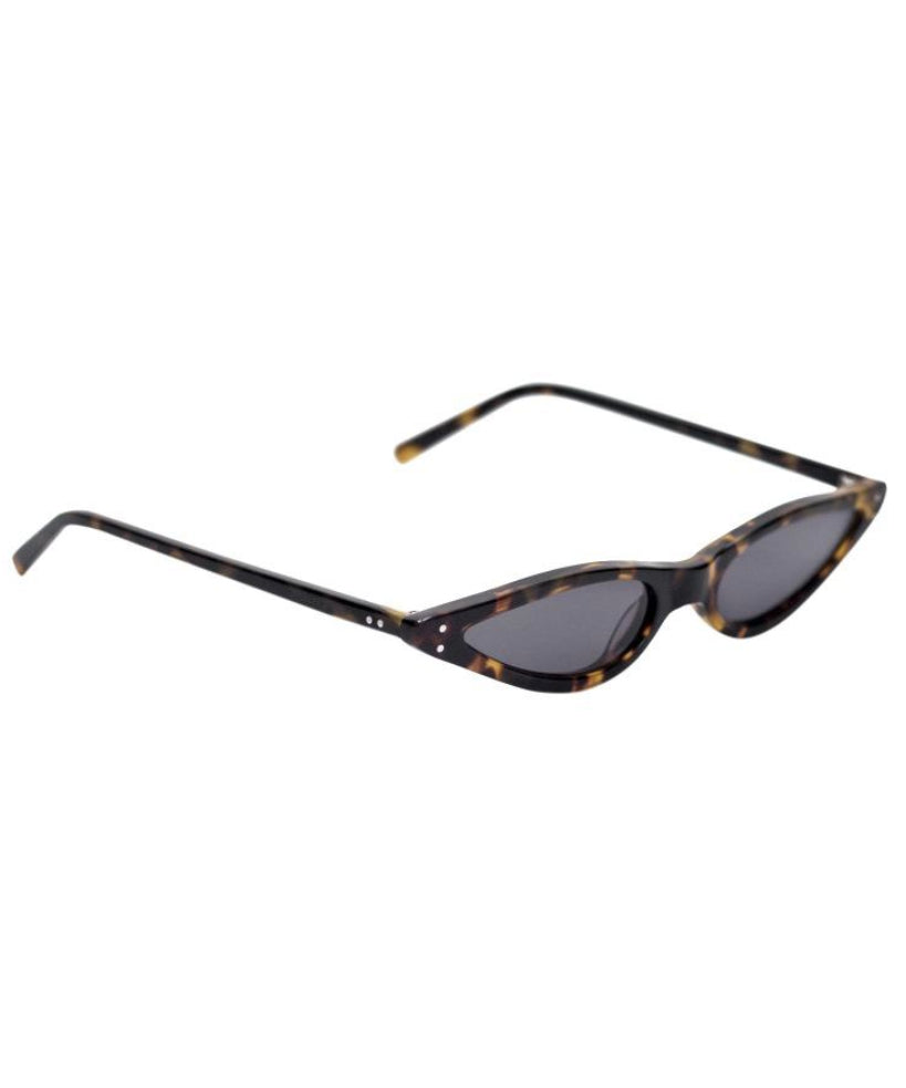 Micro Cat-Eye Sunglasses in Tortoise