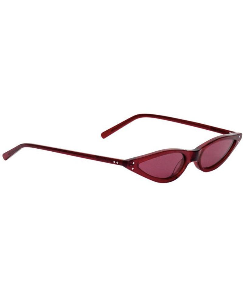 Micro Cat-Eye Sunglasses in Red