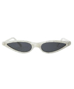 Micro Cat-Eye Sunglasses in White
