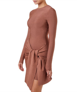 Misha Drew Bandage Mini Women Bronze Dress