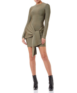 Drew bandage Mini Dress in Khaki