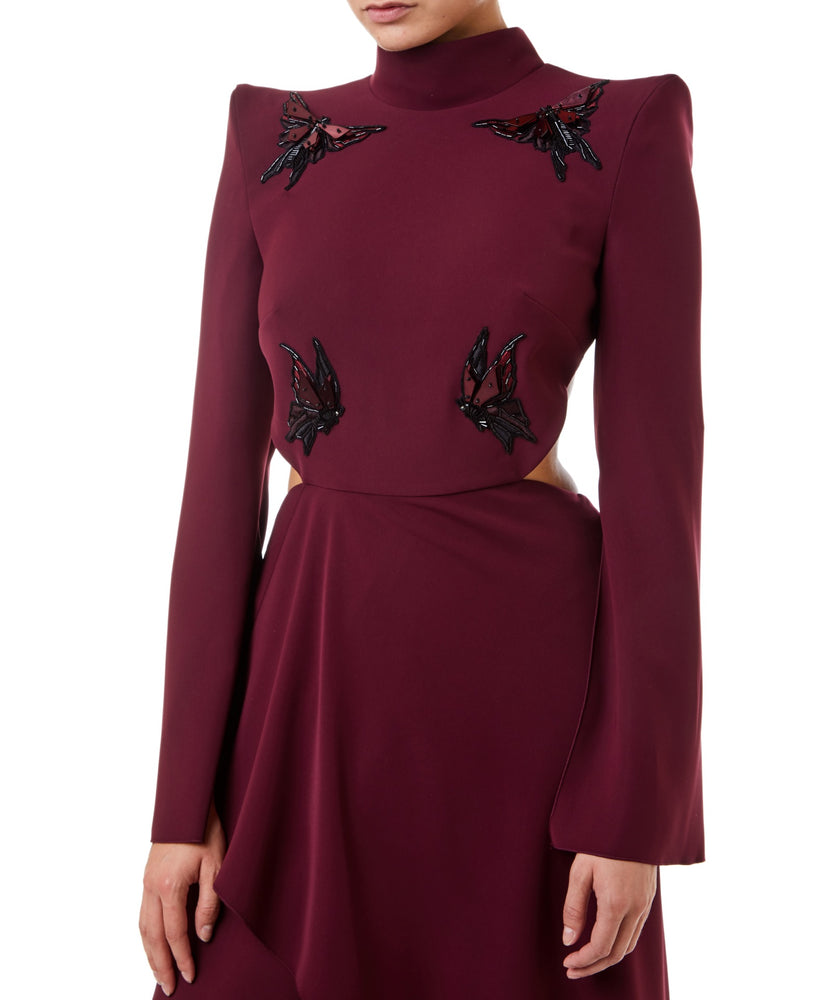 Long Sleeve Embroidered Gown