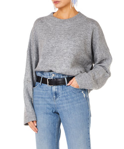 LIAM OVERSIZE HIGH NECK SWEATER grey