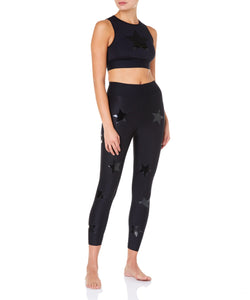 Level Knockout Crop Top Black