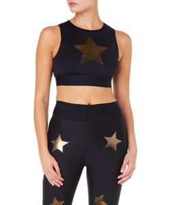 Ultracor Level Knockout Crop Women Gold Top