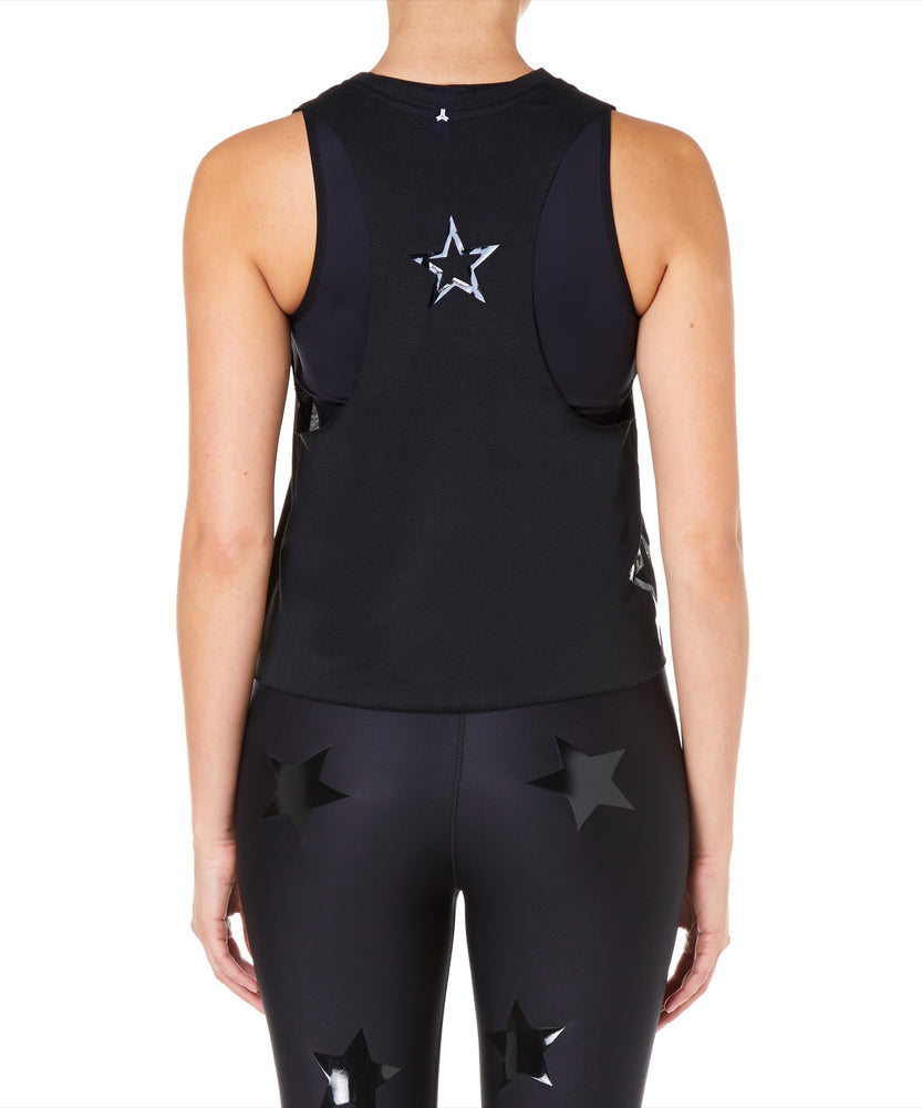 Ultracor Pop Star Racerback Women Black Tank