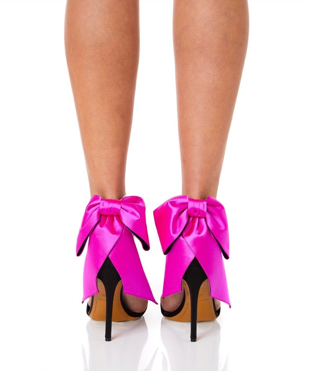 Alexandre Vauthier Bow Down Women Black and Pink Heels
