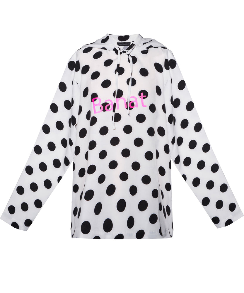 Banat Polka Dot Hoodie  - THE BOX BOUTIQUE
