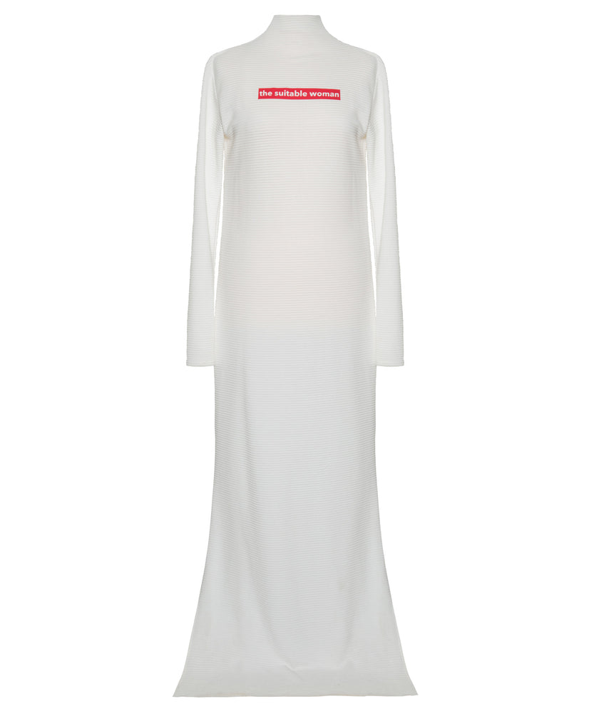 Arwa Al Banawi Suitable Women White Dress