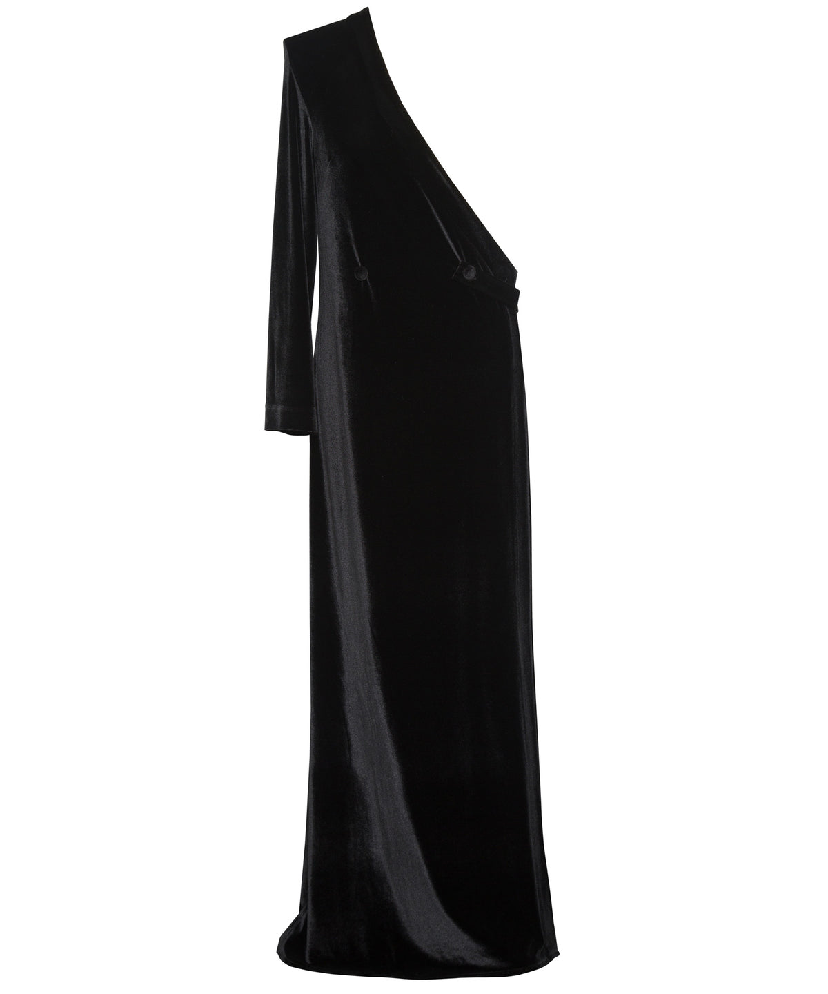 Arwa Al Banawi One Shoulder Women Black Dress