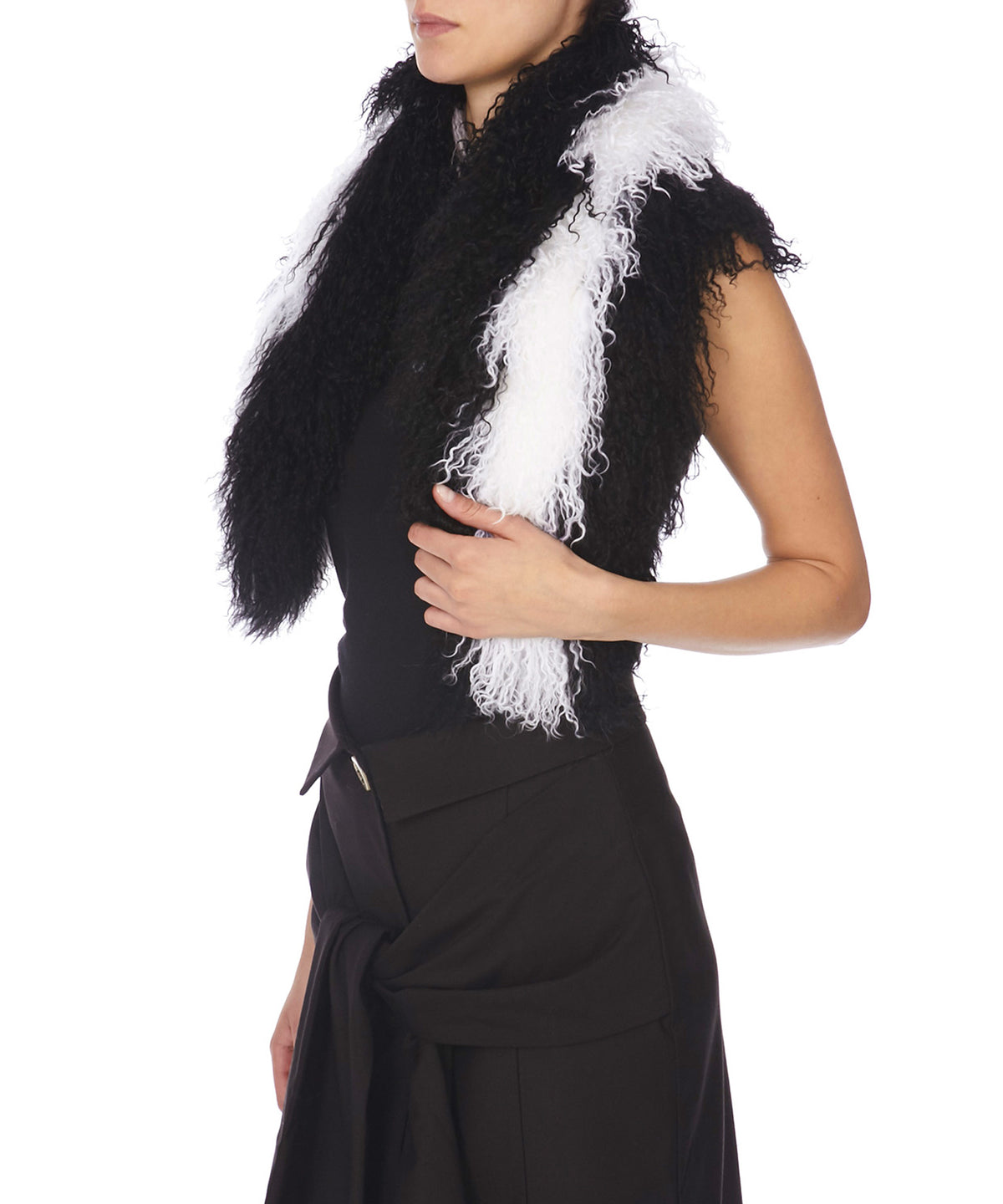 Charlotte Simone Candy Women Black and White Scarf