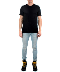 Men's Classic Crew Black-FRONT VIEW-THE BOX BOUTIQUE