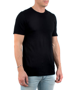 Men's Classic Crew Black-FRONT SIDE VIEW-THE BOX BOUTIQUE