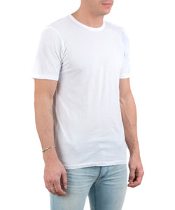 Men's Classic Crew Tee White-SIDE VIEW-THE BOX BOUTIQUE