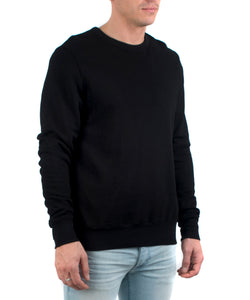 The Jackson Crewneck Black-SIDE VIEW-THE BOX BOUTIQUE