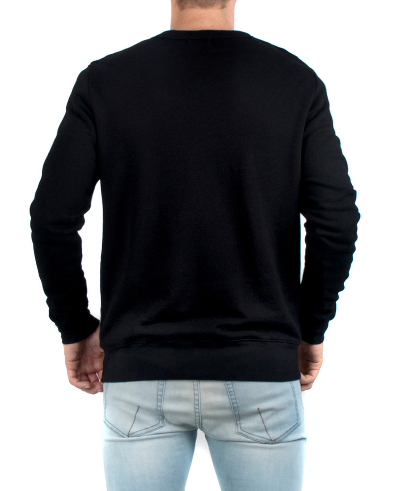 The Jackson Crewneck Black-BACK VIEW-THE BOX BOUTIQUE