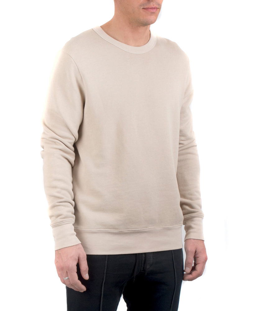 The Jackson Crewneck Tan-FRONT SIDE VIEW-THE BOX BOUTIQUE