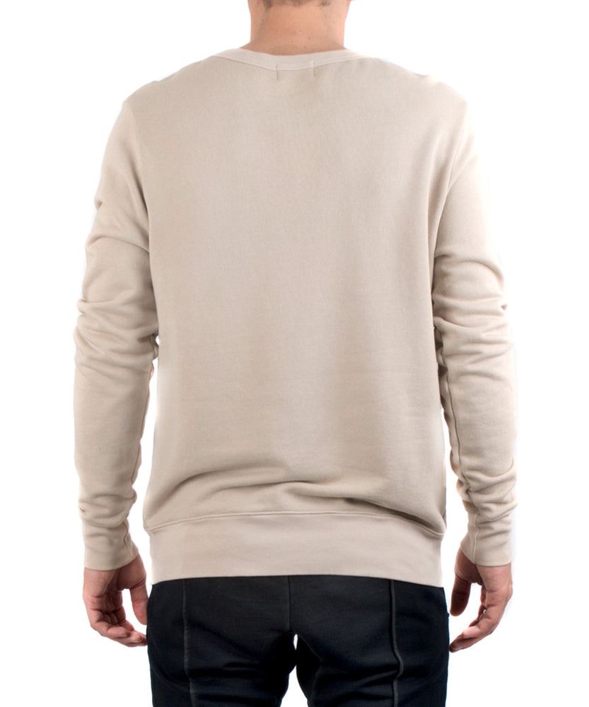 The Jackson Crewneck Tan-BACK VIEW-THE BOX BOUTIQUE