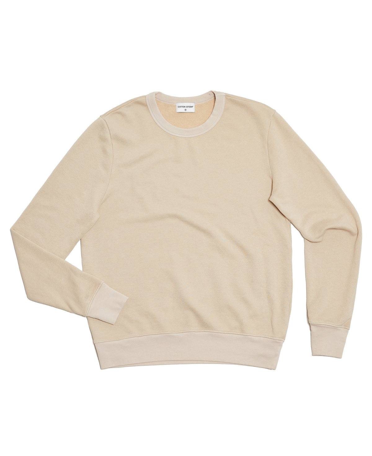 The Jackson Crewneck Tan-FRONT VIEW-THE BOX BOUTIQUE