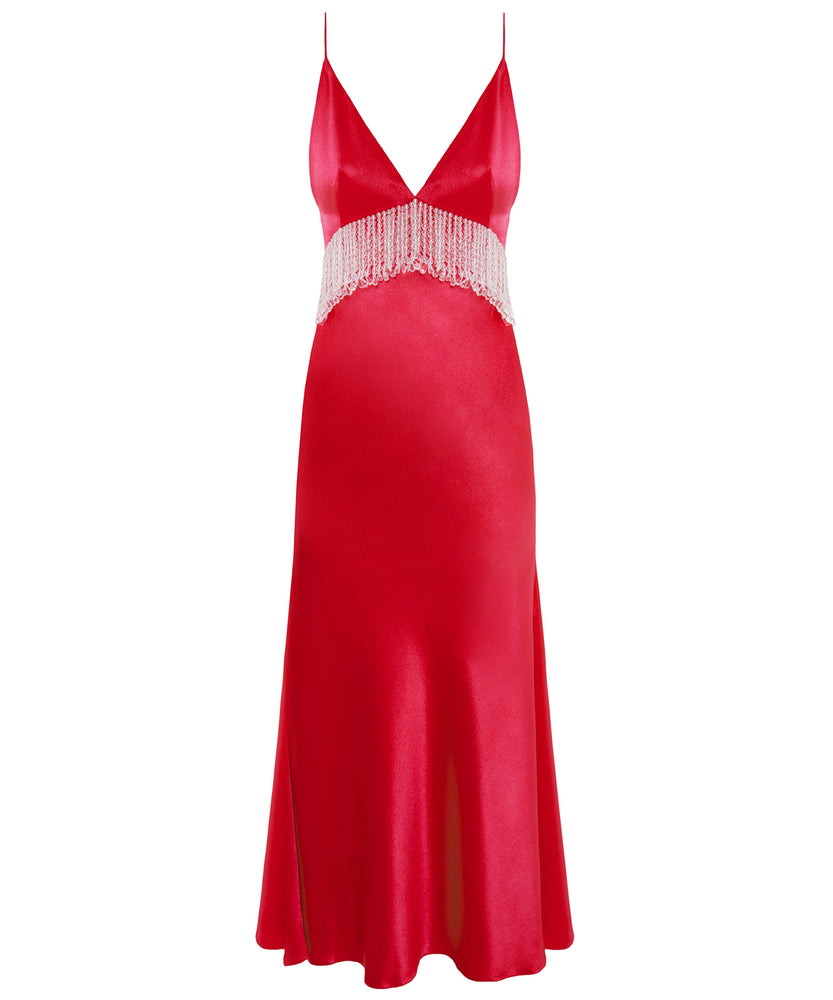 Dalood Decorated Women Red Dress