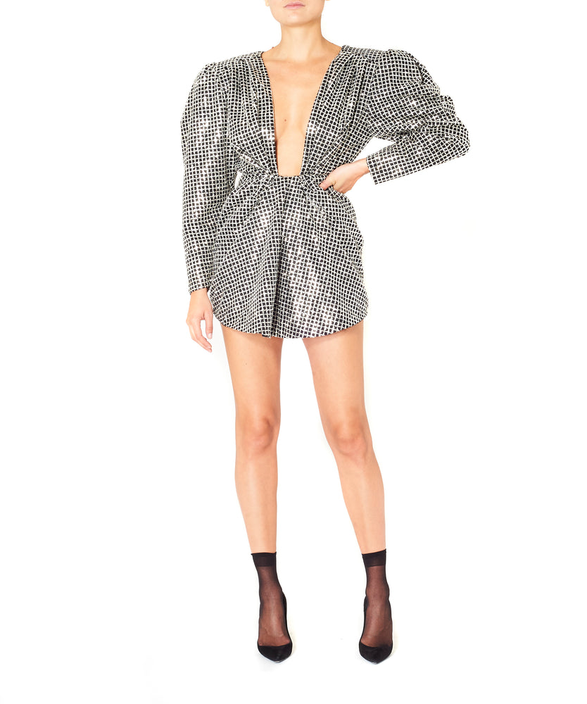 Daniele Carlotta Women Silver Sequined Mini Dress