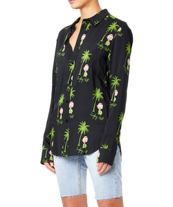 Garcons Infideles Betty Women Black And Green Shirt