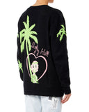 Garcons Infideles Palm Women Black And Green Cardigan