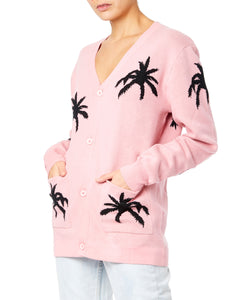 PALM CARDIGAN PULLOVER PINK