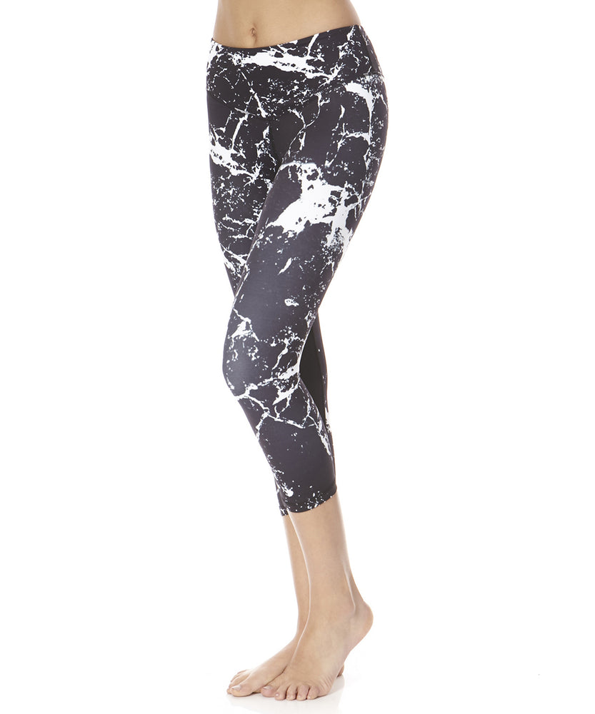 L'urv Stone Temple Women Black and White Leggings