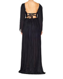 Maria Lucia Hohan Women Catalina Metallic Tulle Silk Dress Black