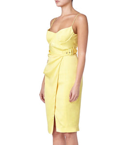 Misha Rina Women Yellow Dress