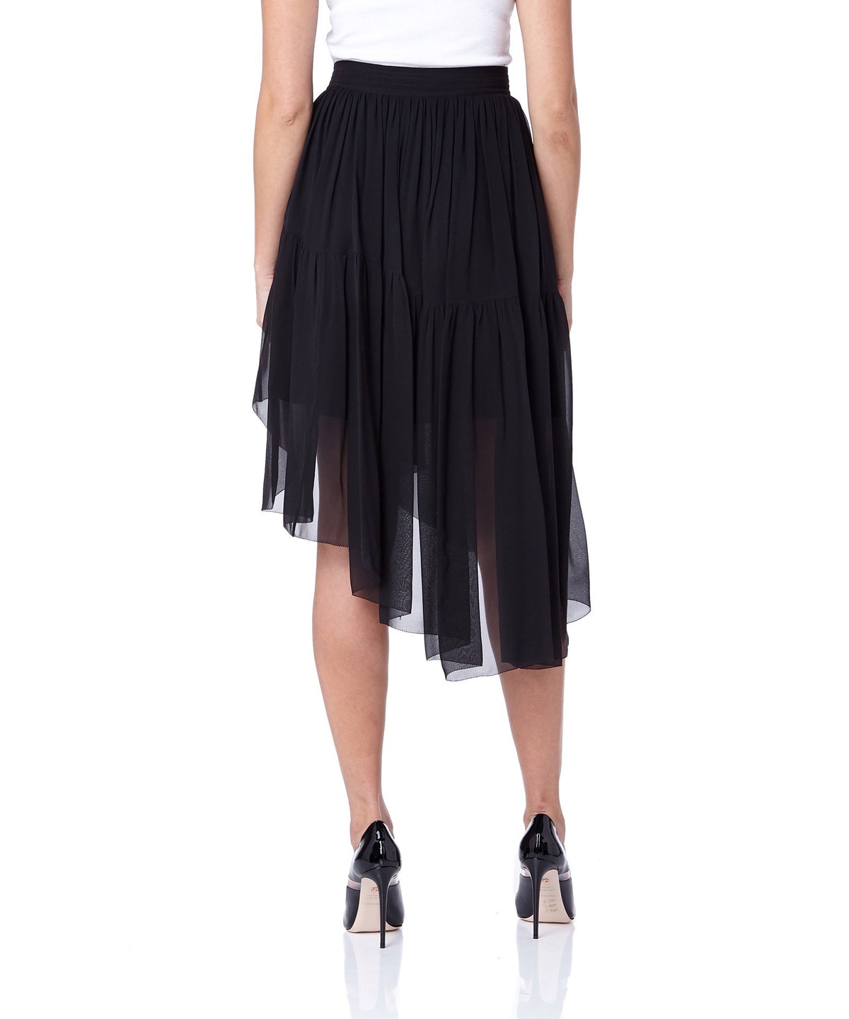 Mugler Asymmetric Hem Women Black Skirt