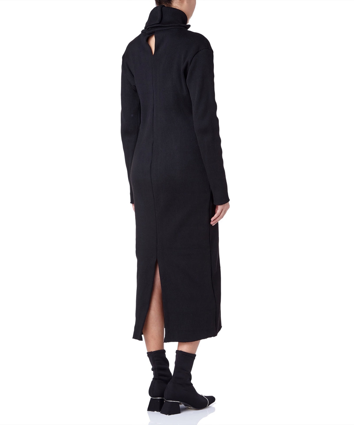 PA5H High Neck Women Black Turtle Neck Dress